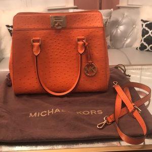 Michael Kors large ostrich skin bag